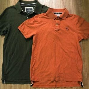 Abercrombie And Fitch Pack Of 2 Polo Shirts Size L